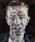 Prints:Contemporary, CHUCK CLOSE (American, b. 1940). Alex (Alex Katz), 1991.Color woodcut. 23-1/4 x 19-1/4 inches (59.2 x 49.0 cm). Ed. 68/...