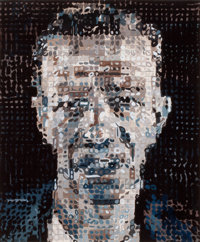 CHUCK CLOSE (American, b. 1940) Alex (Alex Katz), 1991 Color woodcut 23-1/4 x 19-1/4 inches (59.2