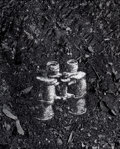 Photographs:Contemporary, VIK MUNIZ (Brazilian, b. 1961). Binoculars (from Pictures ofsoil). Gelatin silver print. 59-1/2 x 47-1/2 inches (151.1 ...
