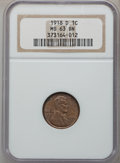 Lincoln Cents: , 1918-D 1C MS63 Brown NGC. NGC Census: (80/128). PCGS Population(52/50). Mintage: 47,830,000. Numismedia Wsl. Price for pro...