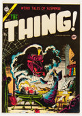 Golden Age (1938-1955):Horror, The Thing! #17 (Charlton, 1954) Condition: FN-....