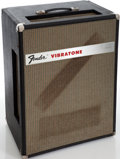 Musical Instruments:Amplifiers, PA, & Effects, 1969 Fender Vibrotone Black Guitar Amplifier, Serial # 3545. ...