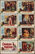 "Movie Posters:Western, Colorado Territory (Warner Brothers, 1949). Lobby Card Set of 8 (11"" X 14""). Western.. ... (Total: 8 Items)"