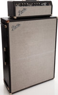 Musical Instruments:Amplifiers, PA, & Effects, 1970s Fender Bassman Black Guitar Amplifier Head and Cabinet, Serial # A33143. ...