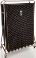 Musical Instruments:Amplifiers, PA, & Effects, 1968 Vox Beatle Black Guitar Cabinet, Serial # 1080178....