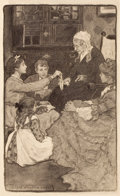 Paintings, JESSIE WILLCOX SMITH (American, 1863-1935). Alcott's Old Fashioned Girl, story illustration. Charcoal on board. 20.25 x ...