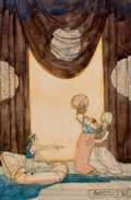 Mainstream Illustration, WILLIAM MITCHESON TIMLIN (British, 1890-1990). Rejected.Watercolor on paper laid on board. 18 x 14 in.. Titled and sign...