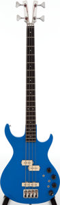 Musical Instruments:Bass Guitars, 1981 Kramer Blue Electric Bass Guitar....