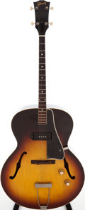 Musical Instruments:Acoustic Guitars, 1966 Gibson ES-125 Tenor Sunburst Archtop Electric Guitar, Serial #R7475....