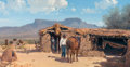 Paintings, MELVIN CHARLES WARREN (American, 1920-1995). His Way of Life, 1977. Oil on board. 23 x 41 inches (58.4 x 104.1 cm). Sign...
