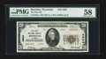 National Bank Notes:Wyoming, Sheridan, WY - $20 1929 Ty. 2 The First NB Ch. # 4604. ...