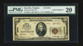National Bank Notes:Virginia, Danville, VA - $20 1929 Ty. 2 The American NB Ch. # 9343. ...