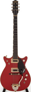 Musical Instruments:Electric Guitars, 1965 Gretsch Jet Firebird Red Solid Body Electric Guitar, Serial #74789....