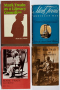 Books:Literature 1900-up, [Mark Twain]. Group of Four Books Related to Mark Twain. Various,1946-1979. Various editions. Very good or better.... (Total: 4Items)