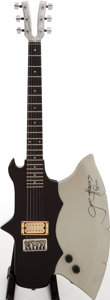 Musical Instruments:Electric Guitars, 1980 Kramer Gene Simmons Axe Grey Solid Body Electric Guitar, Serial # A5291....