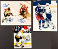 Hockey Collectibles:Photos, Hockey Legends Signed Photographs Lot of 3....