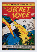 Golden Age (1938-1955):Non-Fiction, Great American Comics Presents - The Secret Voice #1 (AmericanFeatures Syndicate, 1945) Condition: VF-....