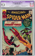 Silver Age (1956-1969):Superhero, The Amazing Spider-Man #17 (Marvel, 1964) CGC Apparent NM- 9.2 Slight (P) Off-white to white pages....