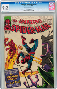 The Amazing Spider-Man #21 (Marvel, 1965) CGC NM- 9.2 Off-white to white pages