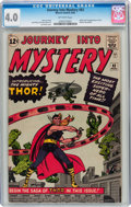 Silver Age (1956-1969):Superhero, Journey Into Mystery #83 (Marvel, 1962) CGC VG 4.0 Off-whitepages....