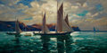 Fine Art - Sculpture, American:Modern (1900 - 1949), JONAS LIE (Norwegian/American, 1880-1940). Land's End. Oilon canvas. 30-1/4 x 60-1/4 inches (76.8 x 153.0 cm). Signed l...