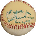 Autographs:Baseballs, 1947 Hank Greenberg Single Signed Baseball....
