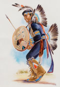 Works on Paper, VERA DRYSDALE (American, 1923-1994). Shield Dance, 1973. Watercolor on paper. 13-3/4 x 9-3/4 inches (34.9 x 24.8 cm). Si...