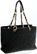 Luxury Accessories:Bags, Heritage Vintage: Chanel Black Caviar Leather Grand Shopper. ...
