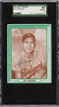 Baseball Cards:Singles (1950-1959), 1958 Bell Brand Potato Chips Gil Hodges SGC 88 NM/MT 8 - Pop Two,One Higher....