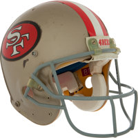 1994 Jerry Rice Game Worn San Francisco 49ers Super Bowl XXIX Helmet - With Team Letter and Definitive Photomatch!