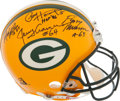 Football Collectibles:Helmets, Packers Legends Multi Signed Authentic Helmet. ...