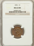 Indian Cents: , 1896 1C MS63 Brown NGC. NGC Census: (68/184). PCGS Population(32/41). Mintage: 39,057,292. Numismedia Wsl. Price for probl...