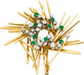 Estate Jewelry:Brooches - Pins, Diamond, Emerald, Gold Brooch, Georg Jensen & Wendel A/S. ...