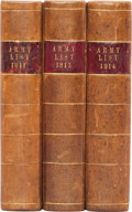 Books:World History, [British Army]. A List of All Officers of the Army and Royal Marines on Full and Half-Pay:... (Total: 3 Items)