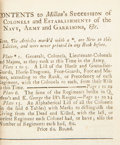 Books:World History, The Succession of Colonels to All His Majesties Land Forces from their Rise, to 1744... London: J. Millan, 1744....