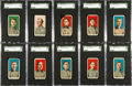Baseball Cards:Sets, 1910 E90-2 American Caramel Pirates SGC-Graded Near Set (10). ...