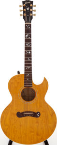 Musical Instruments:Acoustic Guitars, 1992 Gibson Starburst Natural Acoustic Electric Guitar, Serial #91552031. ...
