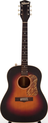 1953 National 1155E Natural Acoustic Electric Guitar, Serial # Y5940/X40291