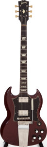 Musical Instruments:Electric Guitars, 1967 Gibson SG Standard Cherry Solid Body Electric Guitar, Serial #892541....