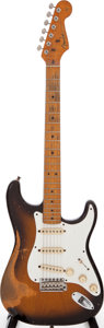 Musical Instruments:Electric Guitars, 1982 Fender Vintage Re-Issue Stratocaster Sunburst Solid BodyElectric Guitar, Serial # V005475....