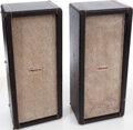 Musical Instruments:Amplifiers, PA, & Effects, Circa 1964 Marshall 2 X 12 Black P.A. Cabinets....
