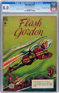"Golden Age (1938-1955):Science Fiction, Four Color #247 Flash Gordon - Davis Crippen (""D"" Copy) pedigree (Dell, 1949) CGC VF 8.0 Cream to off-white pages...."