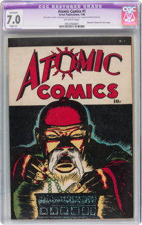 Atomic Comics #1 (Green Publishing Co., 1946) CGC Apparent FN/VF 7.0 Slight (P) Off-white pages