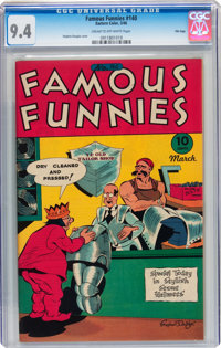 Famous Funnies #140 File Copy (Eastern Color, 1946) CGC NM 9.4 Cream to off-white pages