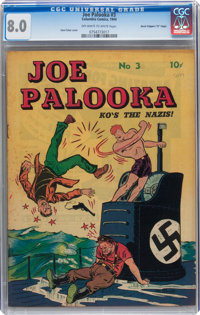 Joe Palooka #3 (Columbia, 1944) CGC VF 8.0 Off-white to white pages