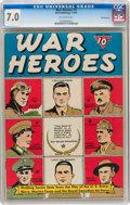 Golden Age (1938-1955):War, War Heroes #3 Pennsylvania pedigree (Dell, 1943) CGC FN/VF 7.0 Off-white pages....