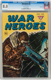 War Heroes #8 Pennsylvania pedigree (Dell, 1944) CGC VF 8.0 Off-white pages