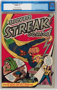 Silver Streak Comics #5 (Lev Gleason, 1940) CGC VF/NM 9.0 Cream to off-white pages