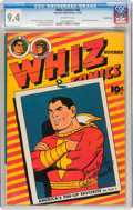 Golden Age (1938-1955):Superhero, Whiz Comics #48 Crowley Copy pedigree (Fawcett Publications, 1943) CGC NM 9.4 Off-white pages....
