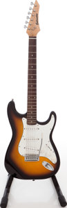 Musical Instruments:Electric Guitars, Recent Galveston Sunburst Solid Body Electric Guitar....